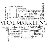 Viral Marketing Word Cloud Concept in black and white — Stock Photo