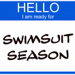 Swimsuit Season Nametag — Stock Photo
