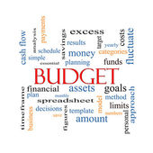 Budget Word Cloud Concept — Stock Photo