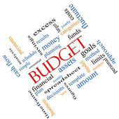 Budget Word Cloud Concept Angled — Stock Photo