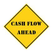 Cash Flow Ahead Sign — Stock Photo