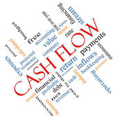 Cash Flow Word Cloud Concept Angled — Stock Photo