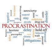 Procrastination Word Cloud Concept — Stock Photo