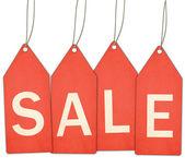 Etiquetas venta rojo y cadena — Foto de Stock