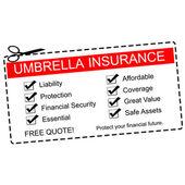 Umbrella Insurance Coupon Concept — Stock Photo