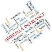 Umbrella Insurance Word Cloud Concept Angled — Stock Photo