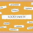Food Safety Corkboard Word Concept — Stock Photo