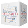 Food Safety 3D cube Word Cloud Concept — Stock Photo #42575767