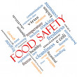 Food Safety Word Cloud Concept Angled — Stock Photo