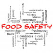 Food Safety Word Cloud Concept in red caps — Stock Photo #42575813