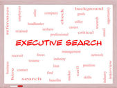 Executive Search Word Cloud Concept on a Whiteboard — Stock Photo