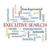 Executive Search Word Cloud Concept — Stock Photo