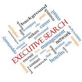 Executive Search Word Cloud Concept Angled — Stock Photo