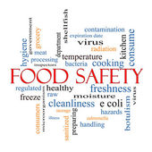 Food Safety Word Cloud Concept — Stock Photo
