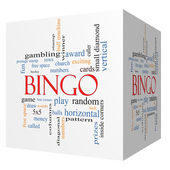 Bingo 3D cube Word Cloud Concept — Stock Photo