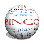 Bingo 3D sphere Word Cloud Concept — Stock Photo