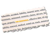 Car Insurance Paper Word Concept — Stock Photo
