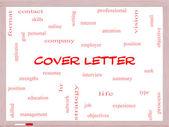 Lettera di copertura parola concetto nuvola su una lavagna — Foto Stock