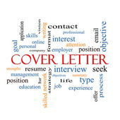 Cover Letter Word Cloud Concept — Stockfoto