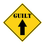 Guilt that way Sign — Stock Photo