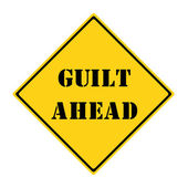 Guilt Ahead Sign — Stock Photo