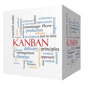 Kanban 3D cube Word Cloud Concept — Stock Photo