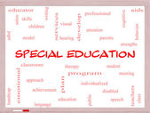 Special Education Word Cloud Concept on a Whiteboard — Stok fotoğraf