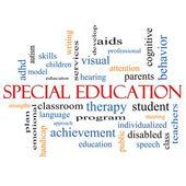 Conceito de nuvem de palavra de educação especial — Fotografia Stock