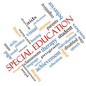 Special Education Word Cloud Concept Angled — Stock Photo
