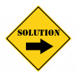 Solution that way Sign — Stock Photo #42887539
