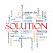 Solution Word Cloud Concept — Stock Photo