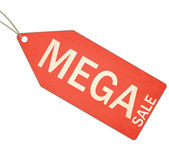 Mega Sale Red Tag and String — Stock Photo