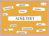 Adultery Corkboard Word Concept — Stock Photo