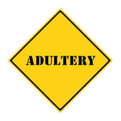 Adultery Sign — Stock Photo