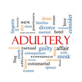 Adultery Word Cloud Concept — Stock Photo