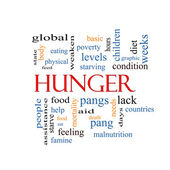 Hunger Word Cloud Concept — Stock Photo
