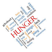 Hunger Word Cloud Concept Angled — Stock Photo