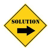 çözüm yolu işaret — Stok fotoğraf
