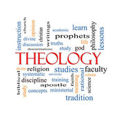 Theology Word Cloud Concept — Stock Photo