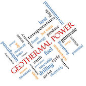 Geothermal Power Word Cloud Concept Angled — Stock Photo