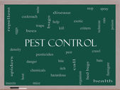 Pest Control Word Cloud Concept on a Blackboard — Stock Photo