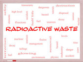 Radioactive Waste Word Cloud Concept on a Whiteboard — Stock Photo