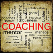 Grunge Coaching Word Cloud — Stock Photo