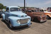 Three Antique Trucks — Stock Photo
