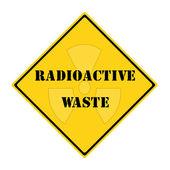 Radioactive Waste Sign — Stock Photo
