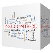 Pest Control 3D cube Word Cloud Concept — Stock Photo