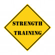 Strength Training Sign — Stock Photo