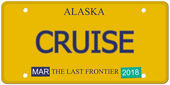 Cruise Alaska License Plate — Stock Photo