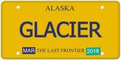 Glacier Alaska License Plate — Stock Photo