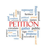 петиция слово облако концепция — Стоковое фото